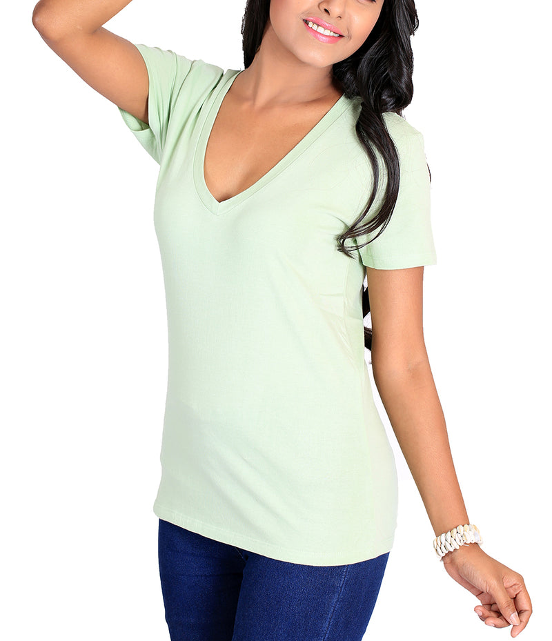 Women's Luxury Cotton V-Neck T-Shirt 6.25 Ounce - Good Life Apparel