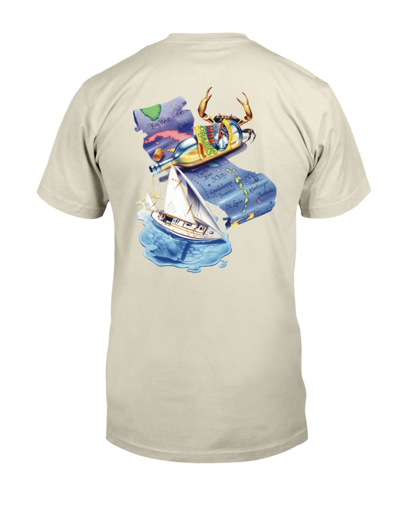 Shipwreck Rum Map Print T-shirt
