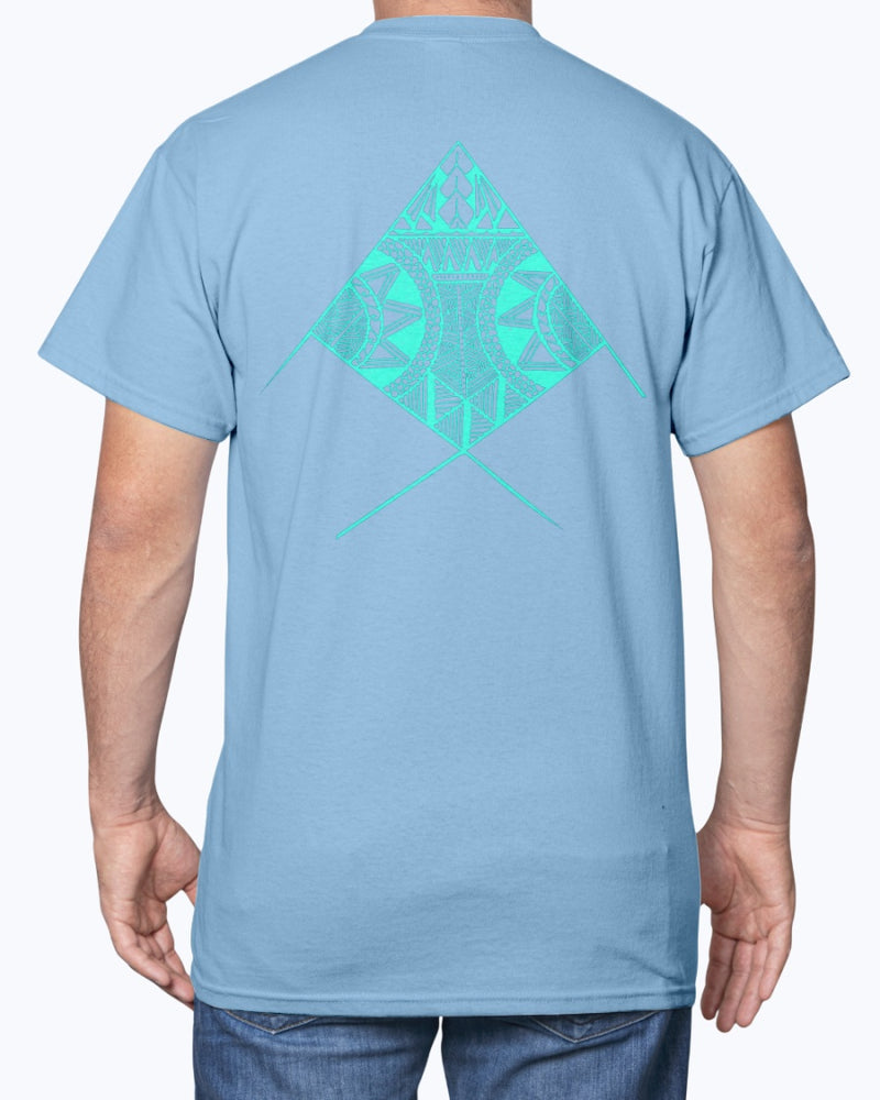 Men's Cotton Polynesian Fish T-shirt - Back Print