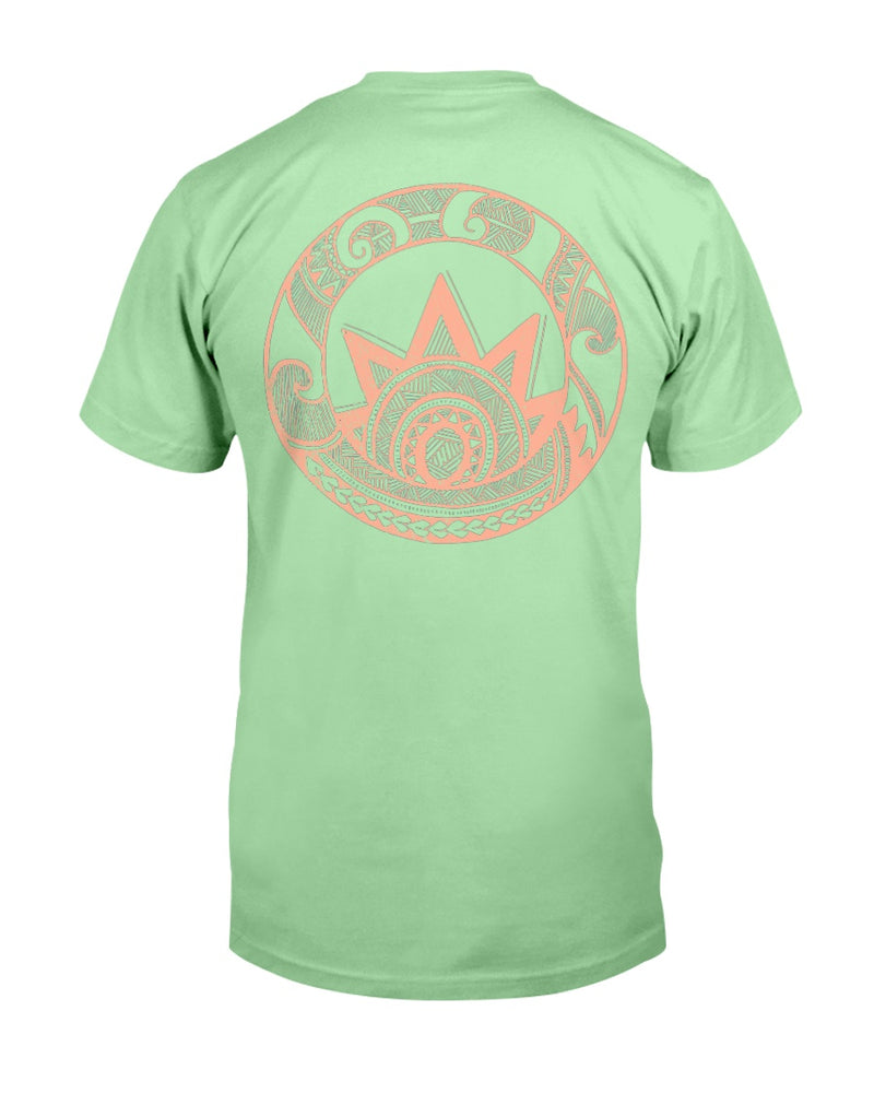 Men's Polynesian Sunrise Cotton T-Shirt - Back Print