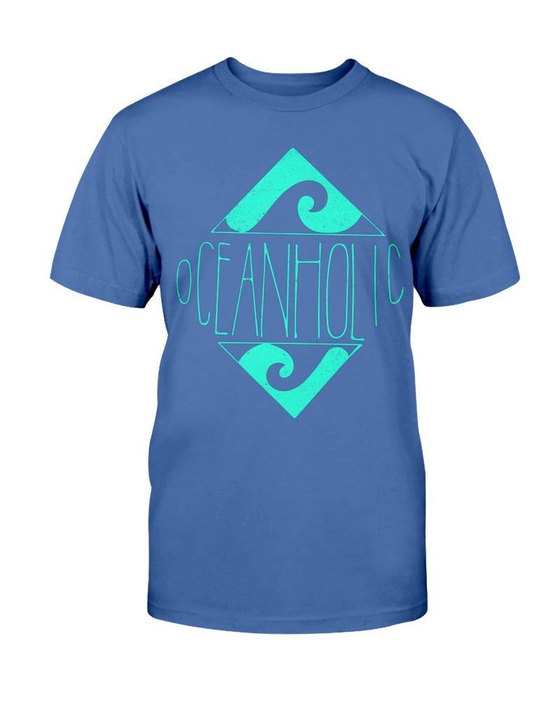 Men's Distressed Oceanholic Diamond Front Print Cotton T-shirt