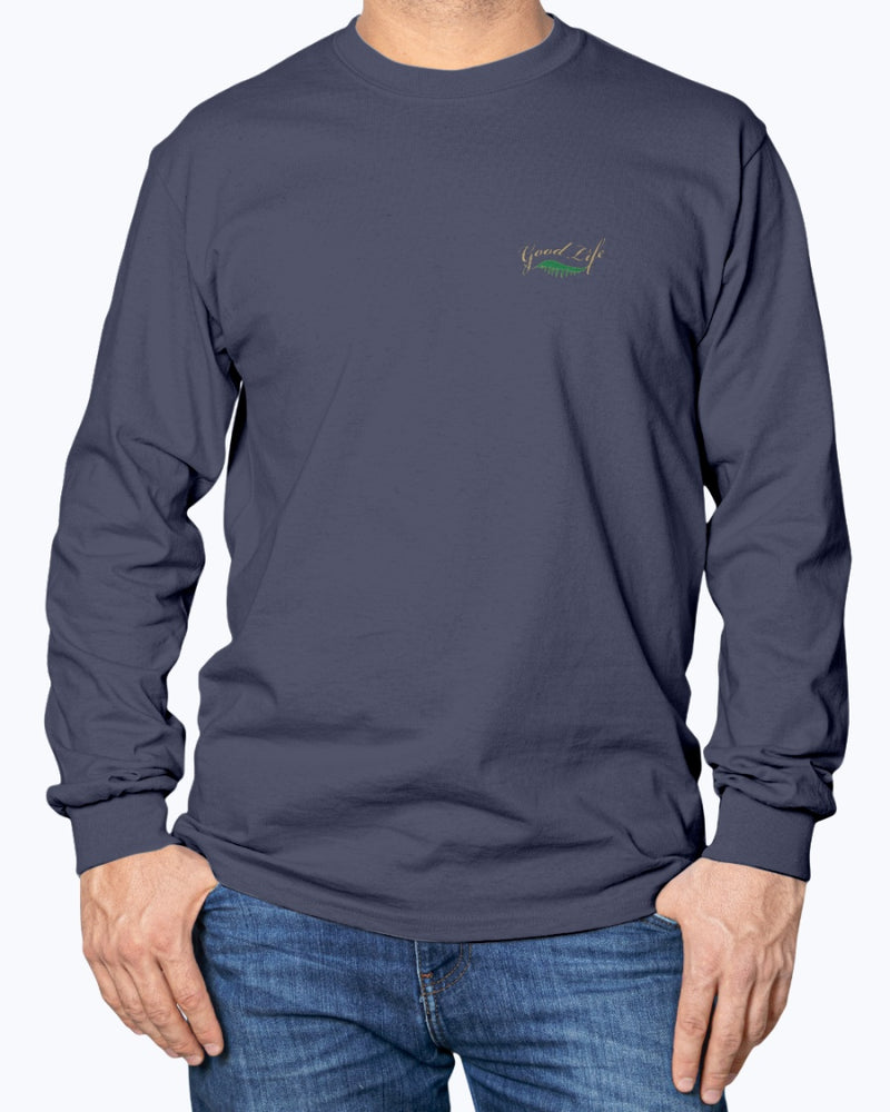 Men's Cotton Long Sleeve Leave Baggage Behind T-shirt