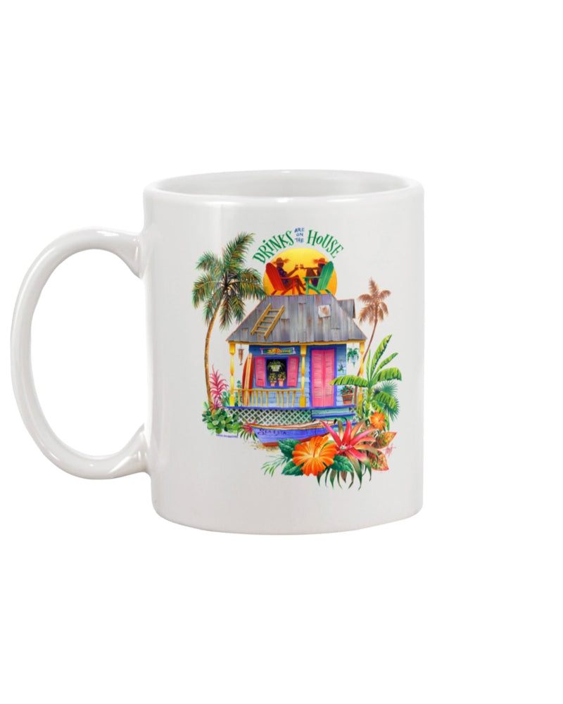 Drinks are on the House 15 oz Ceramic Coffee Mug