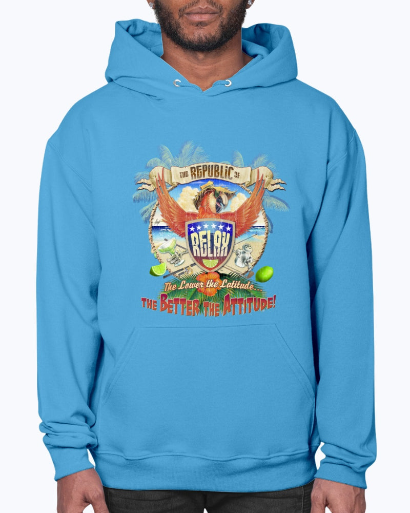 Republic of Relax Fleece Hoodie Sweatshirt Pullover