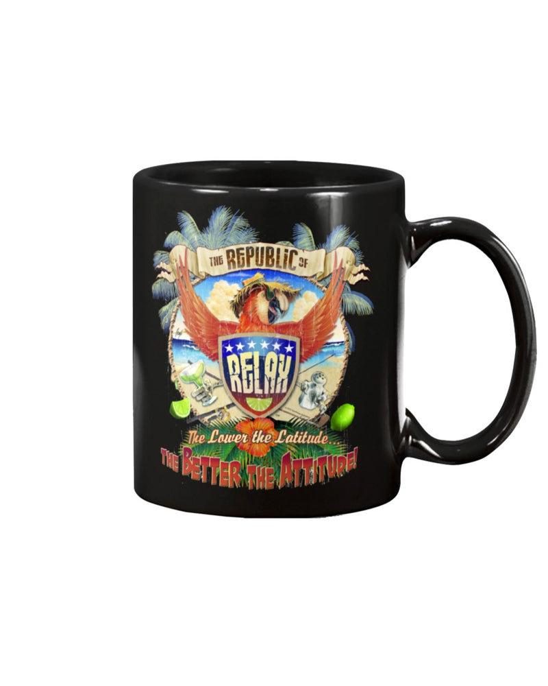 Republic of Relax Ceramic Coffee Mug 15 ounce