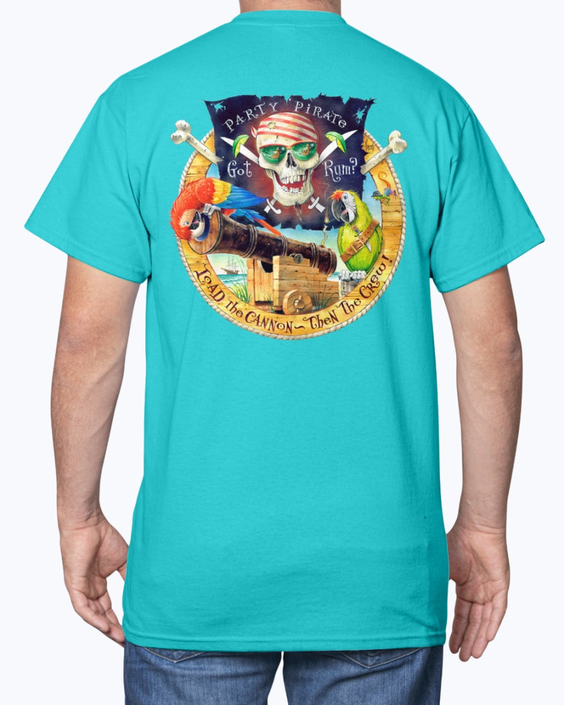jimmy buffett tshirt caribbean soul beach parrot pirate