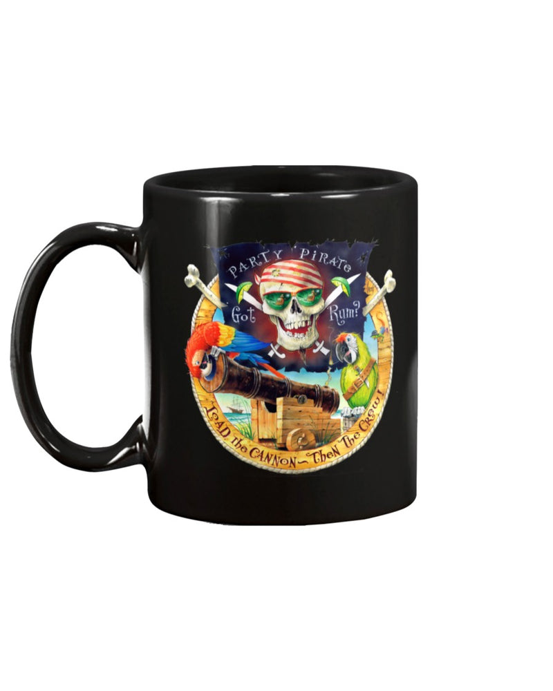 Party Parrot Pirate 15 Oz Ceramic Coffee Mug