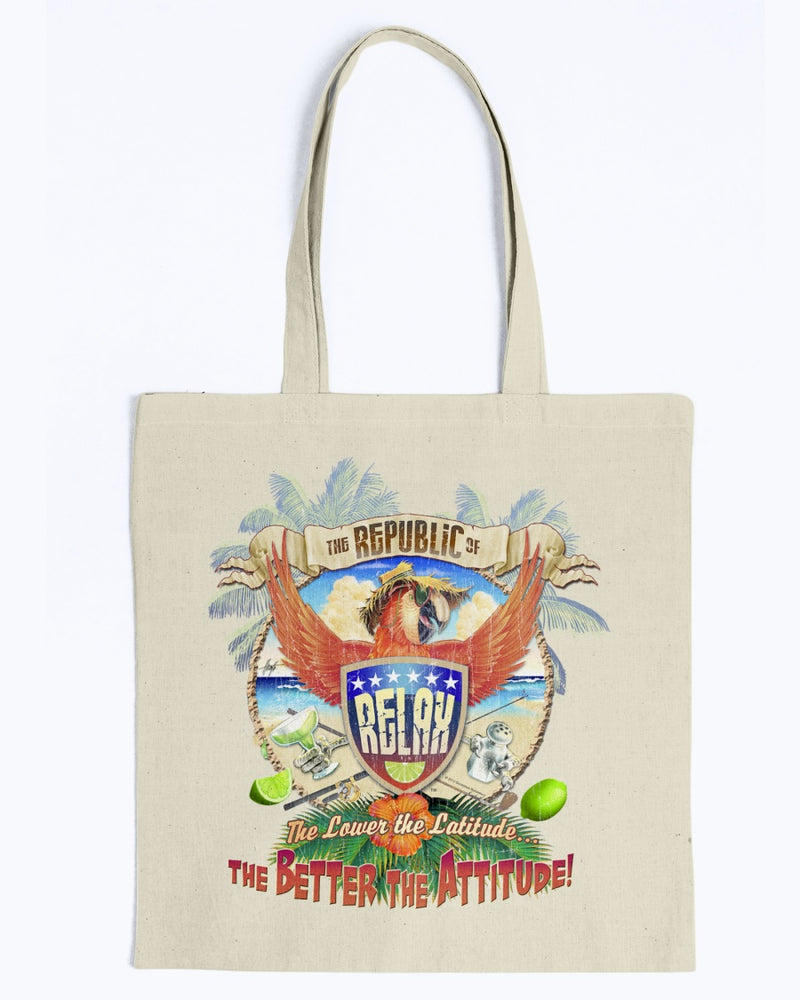 Republic of Relax Canvas Beach Tote Bag