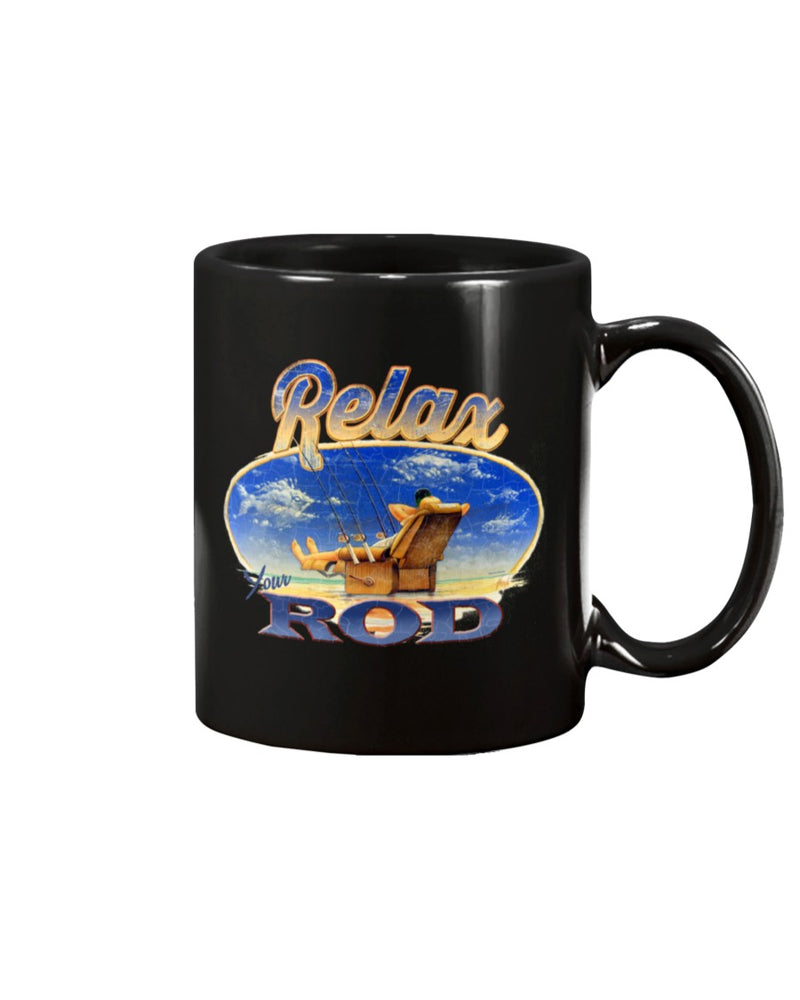 Relax Your Rod Fishing Coffee Mug 15 oz