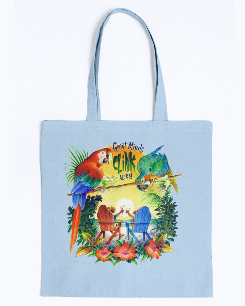 Great Minds Clink Alike Canvas Beach Tote Bag