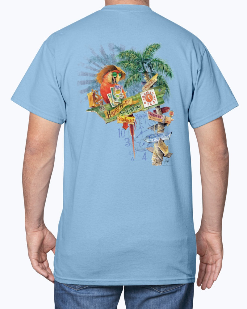 Happy Hour Signs Macaw T-shirt
