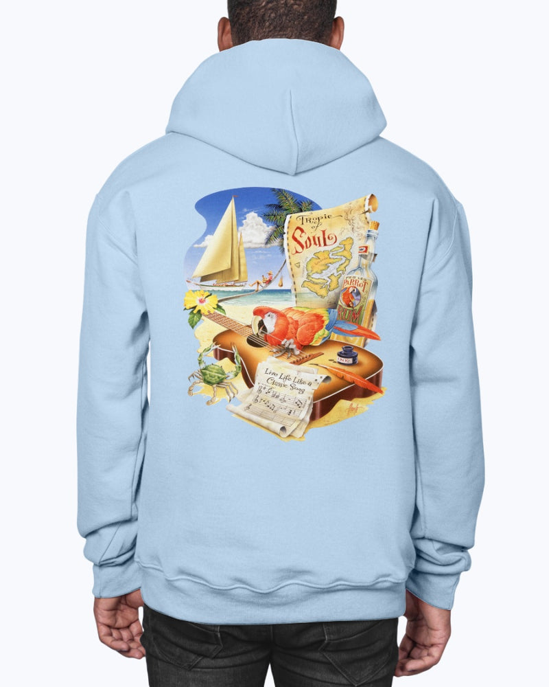 Live Life Like a Classic Song Hoodie Pullover - Back Print