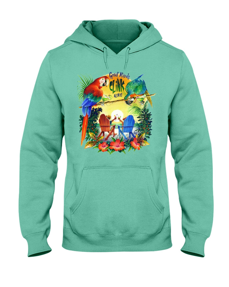 Great Minds Clink Alike Hoodie Sweatshirt Pullover- Front Print