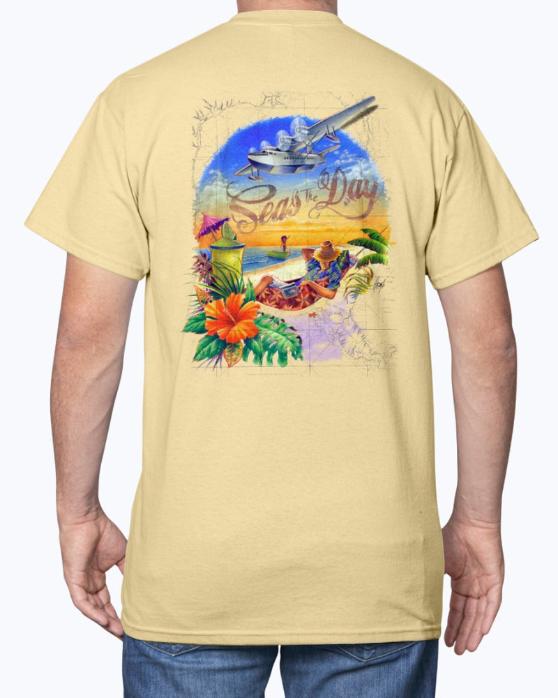 Seas the Day 6 oz Cotton Beach T-shirt