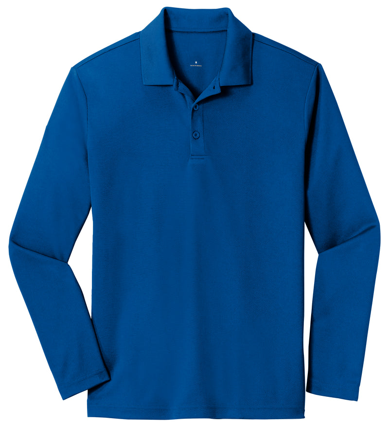 Men's Performance Polo Solid Long Sleeve
