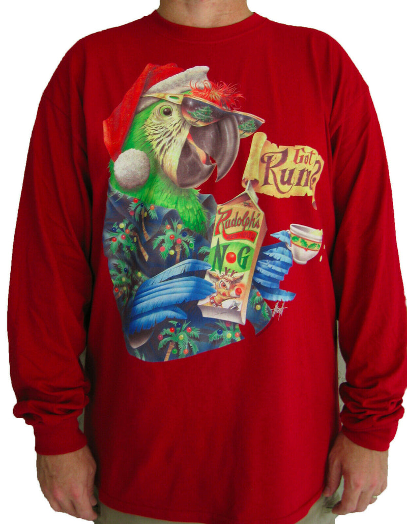 Long Sleeve Christmas T-Shirt - Got Rum?