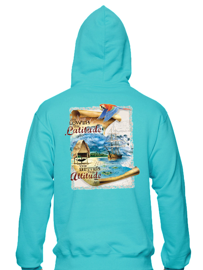 Latitude Attitude Beach Hoodie Pullover Unisex 8oz - Good Life Apparel