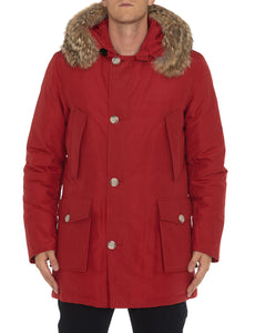 Woolrich Laminated Cotton Parka Hc-Jacket-Woolrich-M-RED-Classic fashion CF13