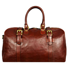 Load image into Gallery viewer, BROWN LEATHER DUFFEL BAG - THE LORD OF THE RINGS