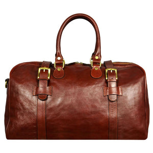 BROWN LEATHER DUFFEL BAG - THE LORD OF THE RINGS