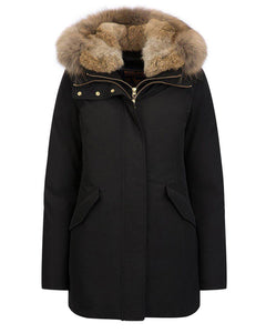 WOOLRICH 'Valentine' parka-Jacket-Classic fashion CF13-XS-Black-Classic fashion CF13