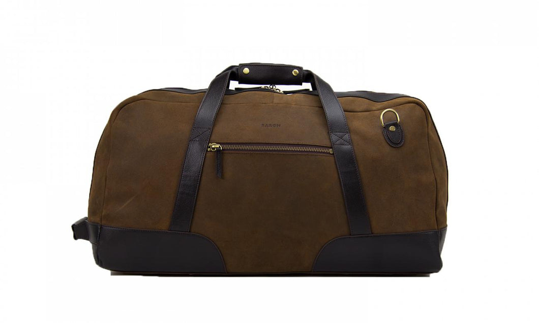 Baron Large Suede Duffel Bag-Bags-Classic fashion CF13-Brown-Classic fashion CF13