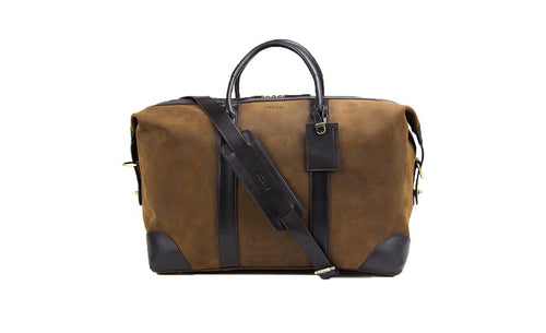 Baron Suede Weekend Bag-Bags-Classic fashion CF13-Brown-Classic fashion CF13