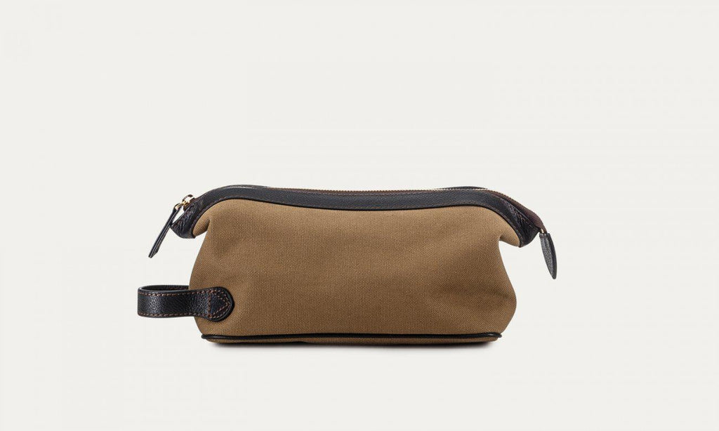 Baron Canvas Wash Bag-Bags-Classic fashion CF13-Khaki-Classic fashion CF13