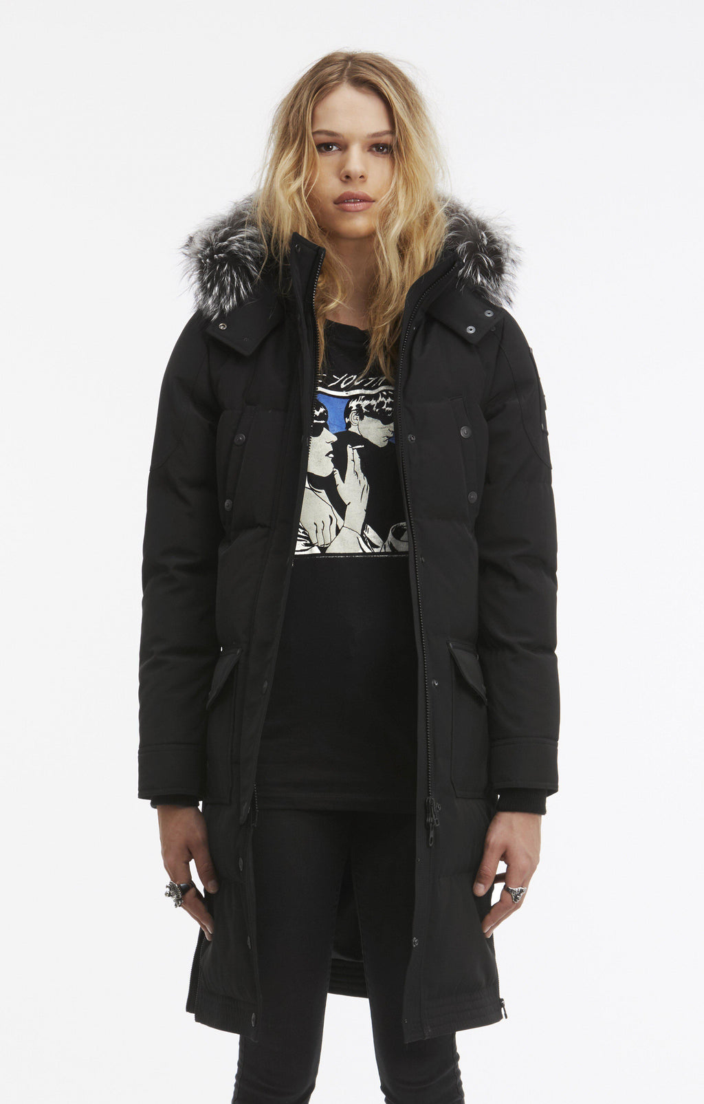Moose Knuckles Alberta Parka Jacket-Jackets-Classic fashion CF13-S-Black-Classic fashion CF13