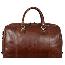 Load image into Gallery viewer, BROWN LEATHER DUFFEL BAG - MONTE CRISTO