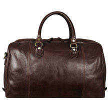 Load image into Gallery viewer, DARK BROWN LEATHER DUFFEL BAG - MONTE CRISTO