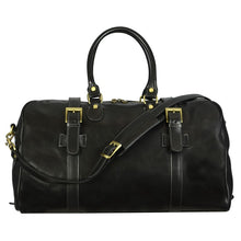 Load image into Gallery viewer, BLACK LEATHER DUFFEL BAG - THE LORD OF THE RINGS
