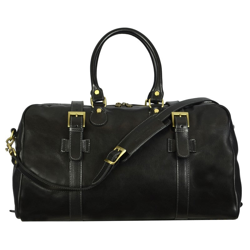 BLACK LEATHER DUFFEL BAG - THE LORD OF THE RINGS