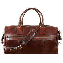 Load image into Gallery viewer, BROWN LEATHER DUFFEL BAG - TO THE LIGHTHOUSE