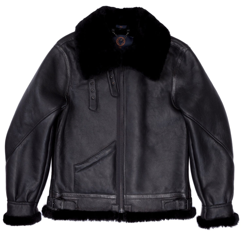 Human Scales Burt Black Shearling