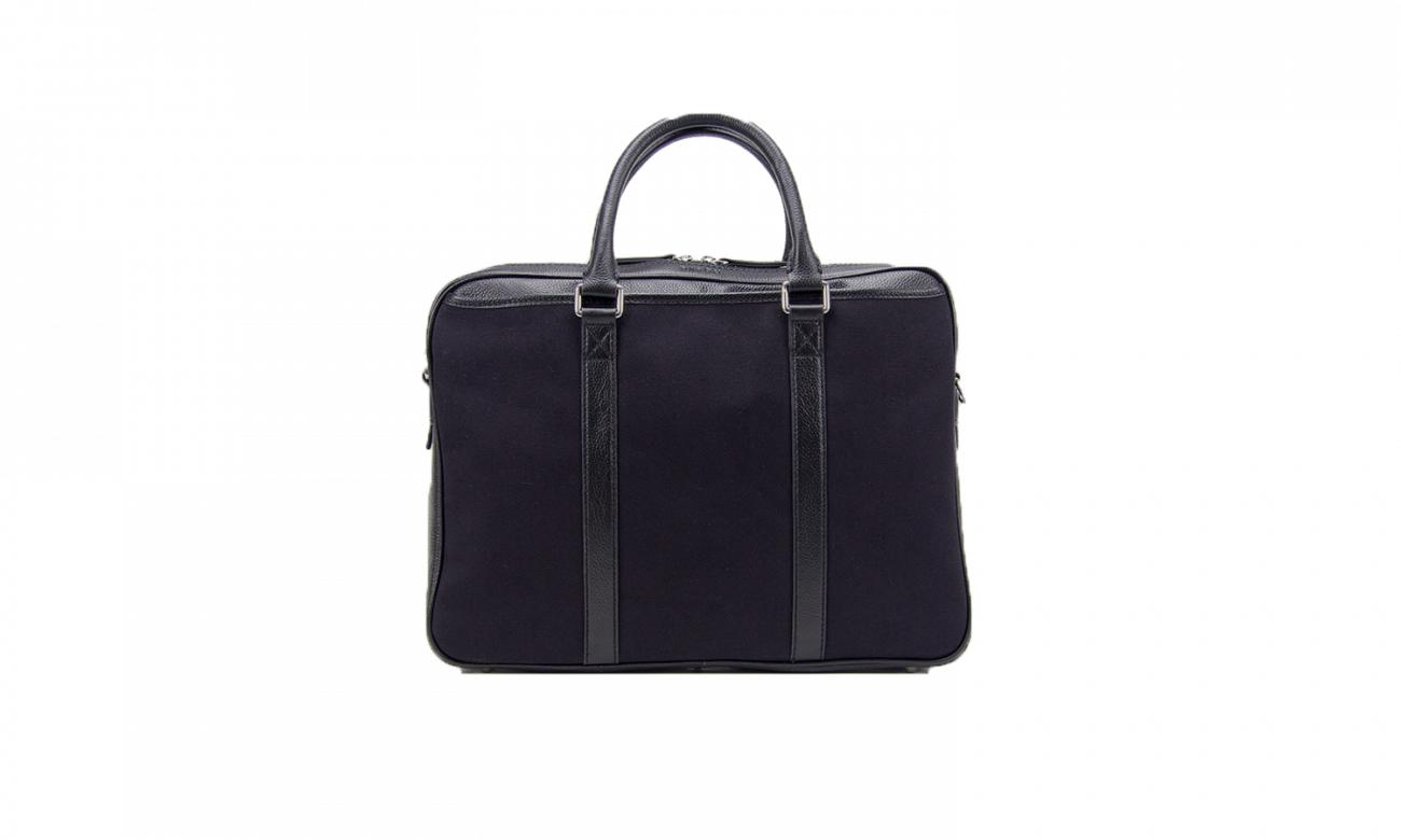 Baron Canvas Laptop Bag-Bags-Classic fashion CF13-Black-Classic fashion CF13