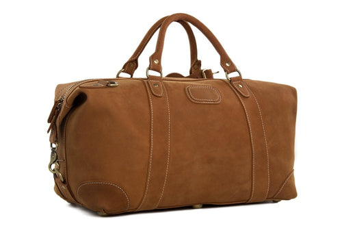 CF13 HANDCRAFTED GENUINE LEATHER TRAVEL BAG, DUFFLE BAG, OVERNIGHT BAG, WEEKENDER BAG-Bags-Classic Fashion CF13-Classic fashion CF13