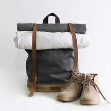 Load image into Gallery viewer, CF13 HANDMADE CANVAS LEATHER BACKPACK-Bags-Classic Fashion CF13-Classic fashion CF13