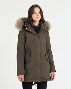 Woolrich W'S Tiffany Parka-Jacket-Woolrich-XS-Military Olive-Classic fashion CF13