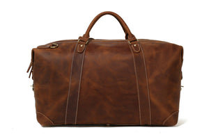 CF13 HANDCRAFTED VINTAGE STYLE TOP GRAIN CALFSKIN LEATHER TRAVEL BAG-Bags-Classic Fashion CF13-Classic fashion CF13