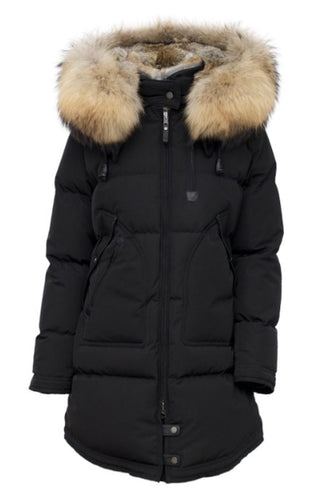 Cedrico Monet Parka Jacket-Jackets-Classic fashion CF13-XS-Black-Classic fashion CF13