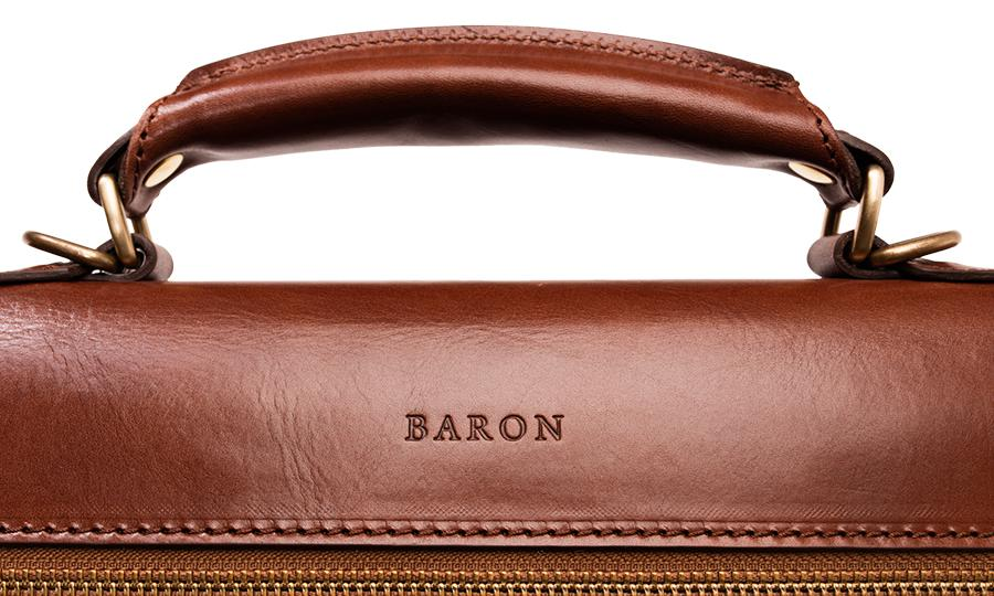 Baron Classic Leather Briefcase-Bags-Classic fashion CF13-Classic fashion CF13