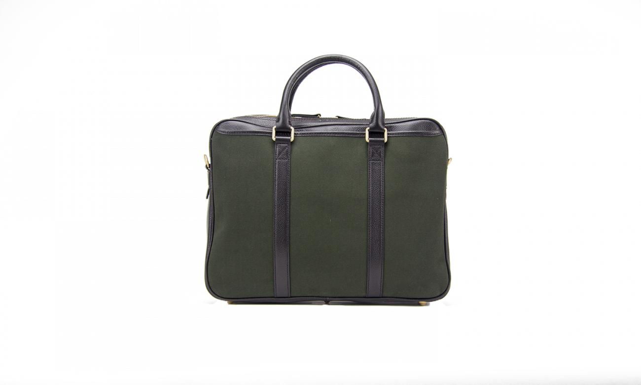 Baron Canvas Laptop Bag-Bags-Classic fashion CF13-Green-Classic fashion CF13