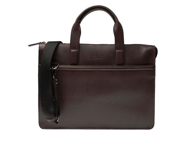 Oscar Jacobson Large Male Computer Bag-Bags-Classic fashion CF13-Dark Brown-Classic fashion CF13