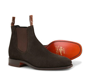 R.M.Williams Craftsman G Boot Suede Chocolate