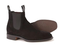 Load image into Gallery viewer, R.M.Williams Blaxland G Boot Suede Black