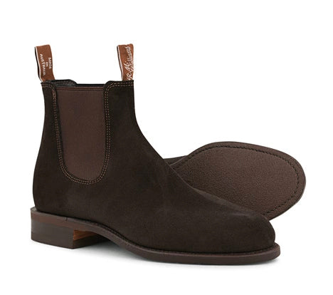 RM Williams Wentworth G Boot Chocolate Suede