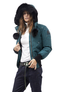 Moose Knuckles Debbie Bomber Jacket-Jackets-Classic fashion CF13-XS-Turquoise-Classic fashion CF13