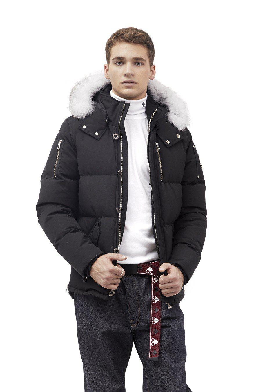 Moose Knuckles 3Q Men Jacket-Jackets-Classic fashion CF13-S-Black/White fur-Classic fashion CF13