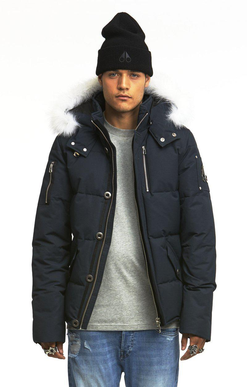 Moose Knuckles 3Q Men Jacket-Jackets-Classic fashion CF13-S-Navy/White fur-Classic fashion CF13